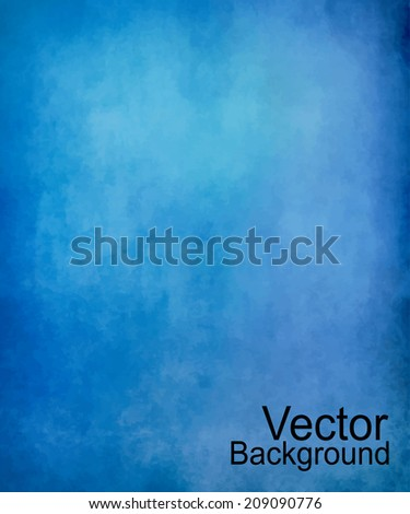 Grunge blue vector background - stock vector