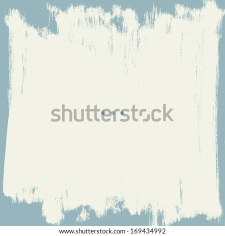 Grunge border. Shabby painted wall. Vector background. - stock vector