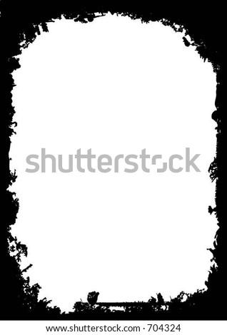 grunge border vector stock vector 704324 shutterstock rh shutterstock com grunge vector frame grunge vector pack