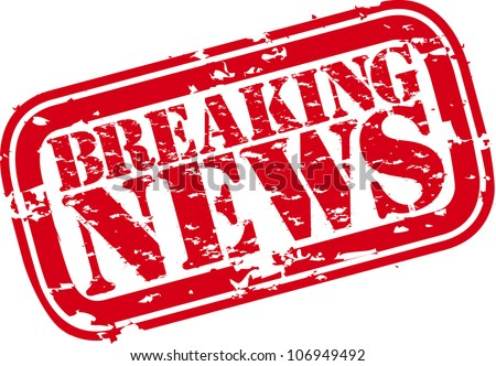 Grunge breaking news rubber stamp,vector illustration - stock vector