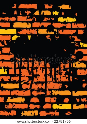 Grunge Brickwall Design (vector). In the gallery also available XXL jpeg image made from this vector  - stock vector