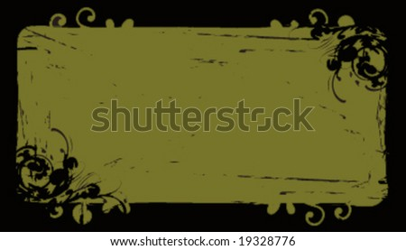 Grunge business card background frame