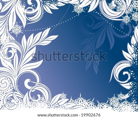 Grunge christmas background - stock vector