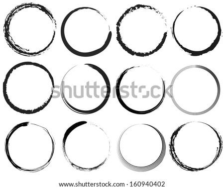 Grunge circles - stock vector