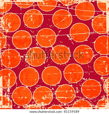 Grunge circles background - stock vector
