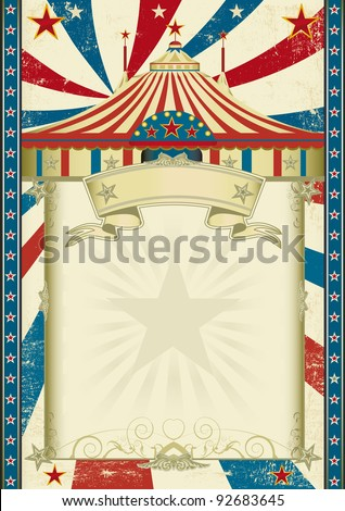 Grunge circus. A circus background with a big top - stock vector
