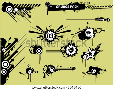 grunge clipart pack