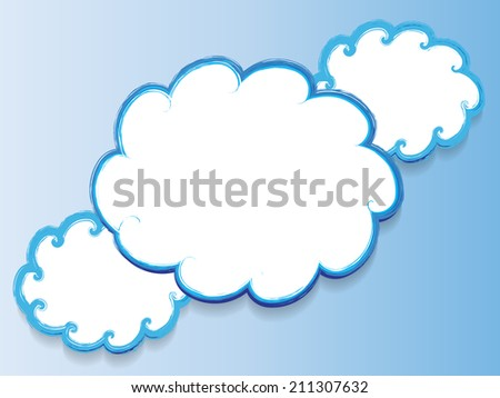 Grunge clouds - stock vector