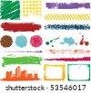 Grunge color designs - stock vector