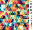 grunge colored triangle seamless pattern - stock photo