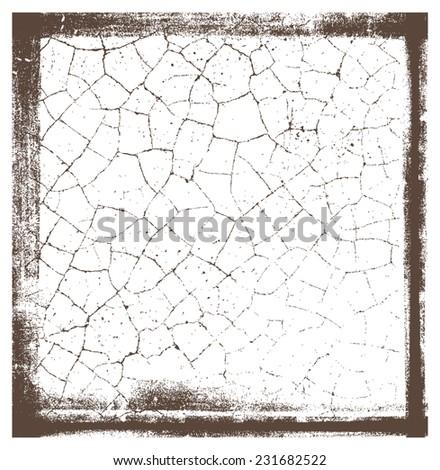 grunge crackle frame - stock vector