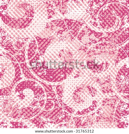 Grunge curly pattern vector - stock vector