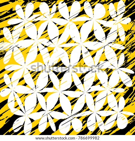 grunge daisy flower abstract vector background stock vector rh shutterstock com grunge vector background black grunge vector background