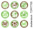 Grunge ecology labels - stock vector