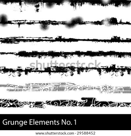 Grunge Elements 1 - stock vector