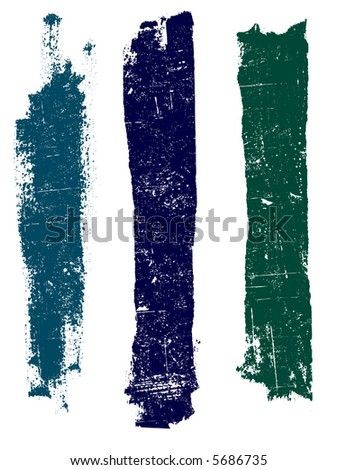 Grunge elements - Grunge Lines 4 - Highly Detailed vector grunge elements - stock vector