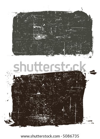 Grunge elements - 2 Grunged Squares -  Highly Detailed vector grunge elements - stock vector