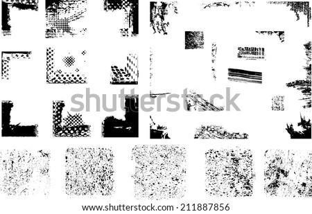 Grunge elements. Vector illustration. - stock vector