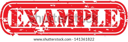 Grunge example rubber stamp, vector illustration - stock vector