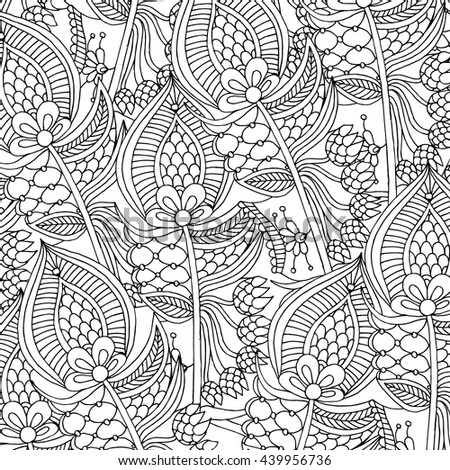 Grunge feather retro background, hand drawn doodle pattern in vector.