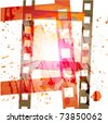 grunge film background - stock vector