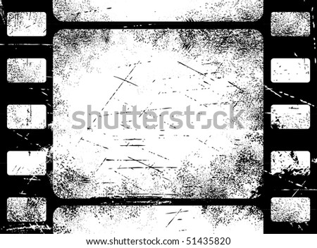 Grunge filmstrip background - stock vector