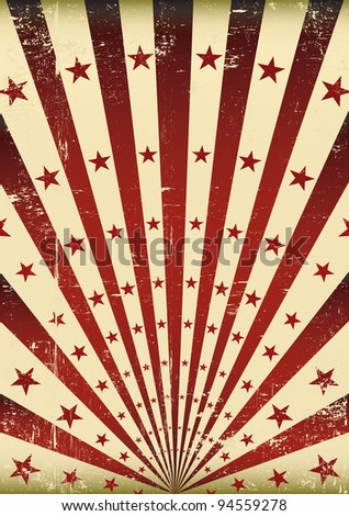 grunge flag. An old grunge flag for your advertising. - stock vector