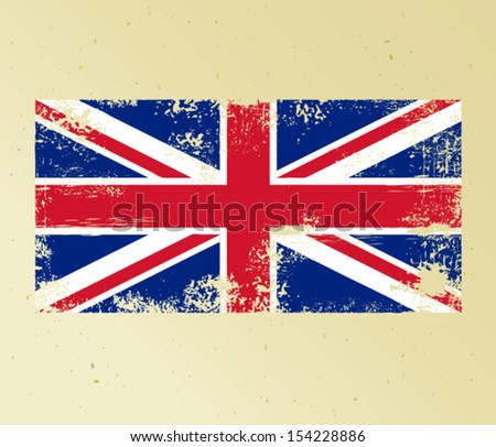 Grunge flag of Great Britain