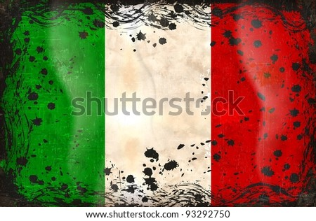 Grunge Flag of Italy - stock vector