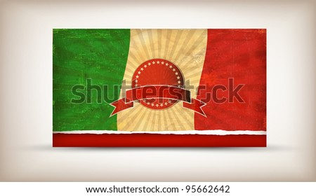 Grunge flag series of all sovereign countries - Italy - stock vector