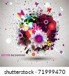 Grunge floral Background. Eps10 - stock vector