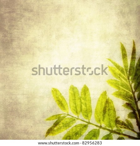 Grunge floral background vector - stock vector