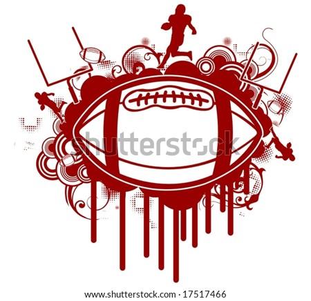 Grunge Football/T-Shirt Design - stock vector
