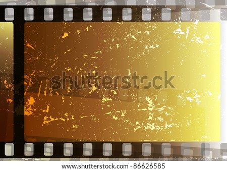 Grunge fragmentary film strips. Background for design (vector EPS 10)