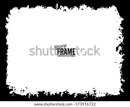 Grunge frame - abstract texture background. Isolated stock vector design template