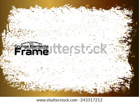 Grunge frame - abstract texture. Stock vector design template - easy to use  - stock vector