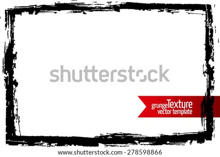 Grunge frame. Abstract texture. Stock vector design template. Easy to use.  - stock vector