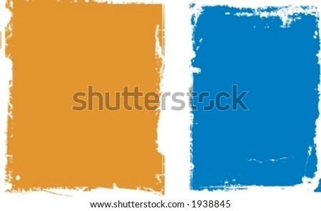 Grunge Frame and Border Series. - stock vector