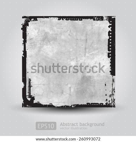Grunge frame background Vector  - stock vector