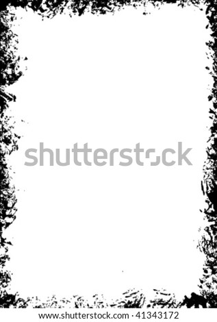 Grunge frame - background vector - stock vector