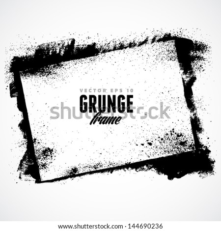 Grunge frame for multiple applications. - stock vector