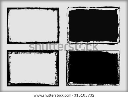 Grunge frame.Grunge background.Abstract vector template.  - stock vector