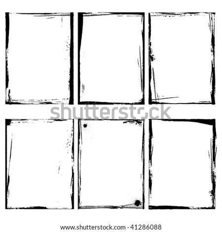Grunge Frame Illustrator Vector - stock vector