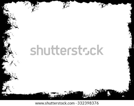 Grunge frame. vector template