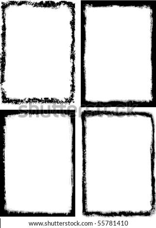 Grunge frames. - stock vector