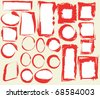 Grunge frames collection - stock vector