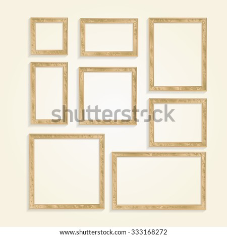 Grunge frames vector set. - stock vector