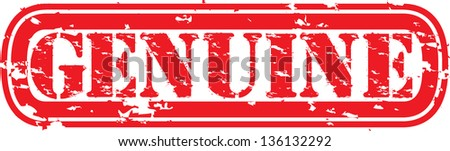 Grunge genuine stamp, vector illustration