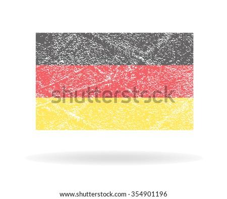 Grunge Germany flag, Vector illustration - stock vector