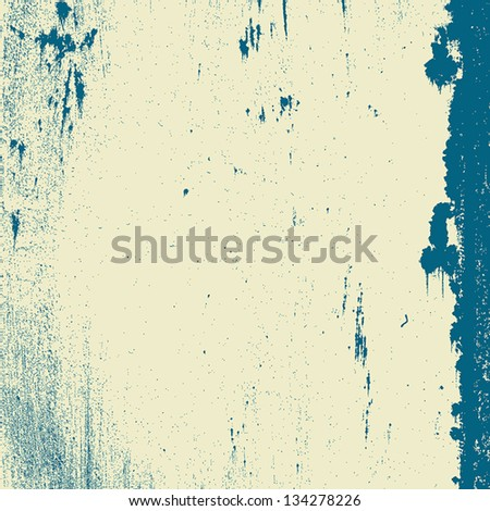 Grunge grainy texture with stains and blots. EPS10 vector. - stock vector